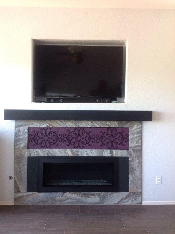 Floating TV Mantel Shelf .Floating wall shelf .Fireplace mantel ...
