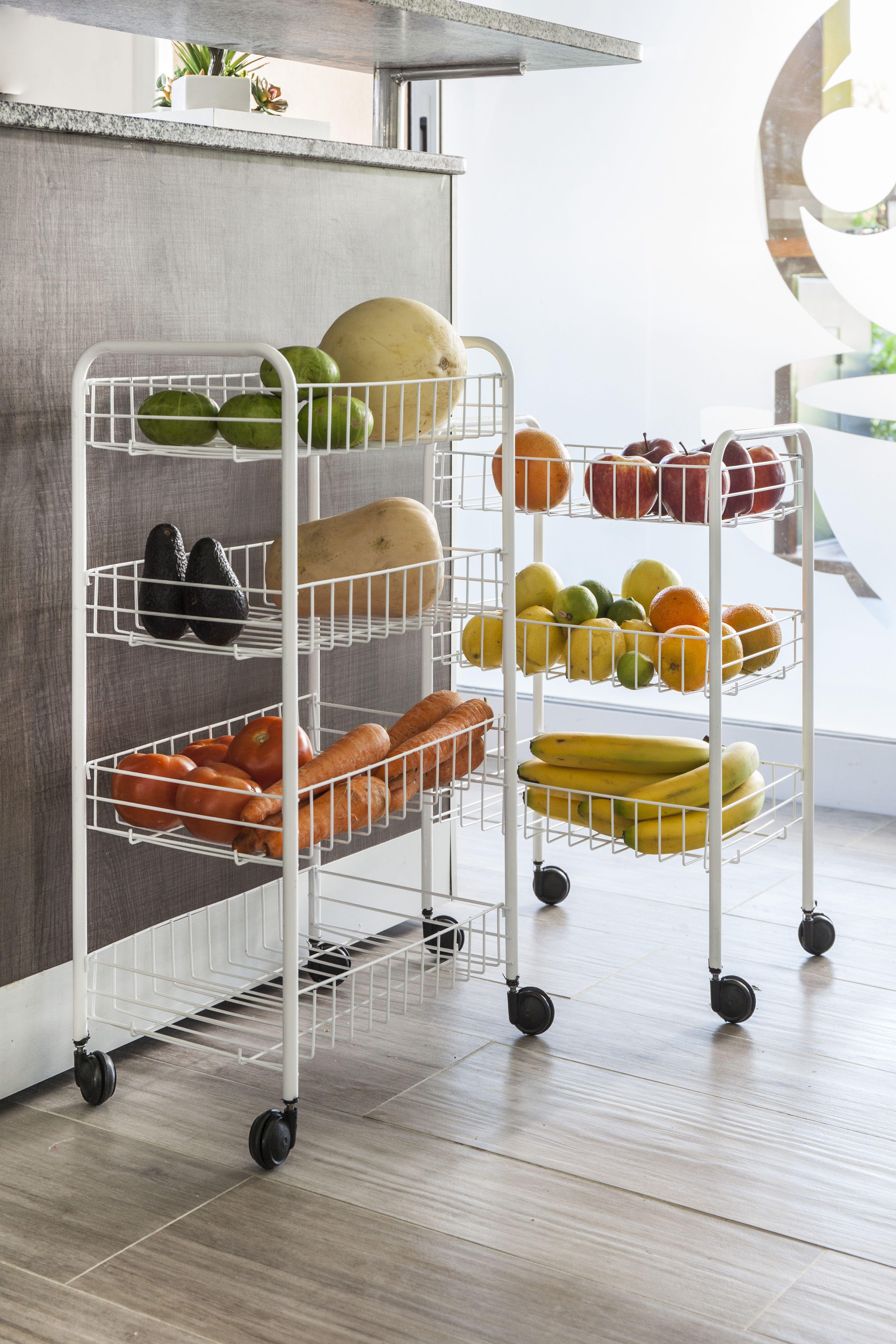 Una Forma Practica Y Comoda De Organizar Frutas Y Verduras Ideas Ideas De Organizacion De Cocina Organizacion De Cocina Organizar Los Armarios De La Cocina