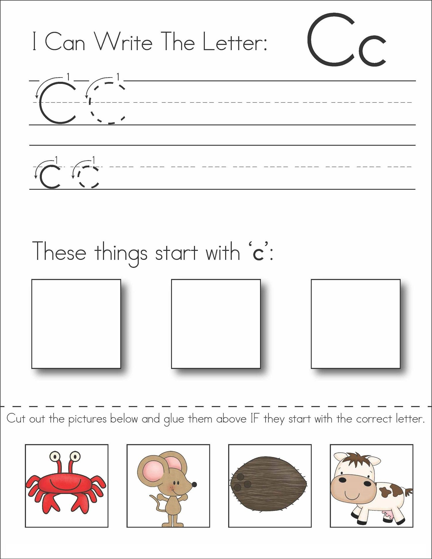 Free Letter Worksheets For Children In