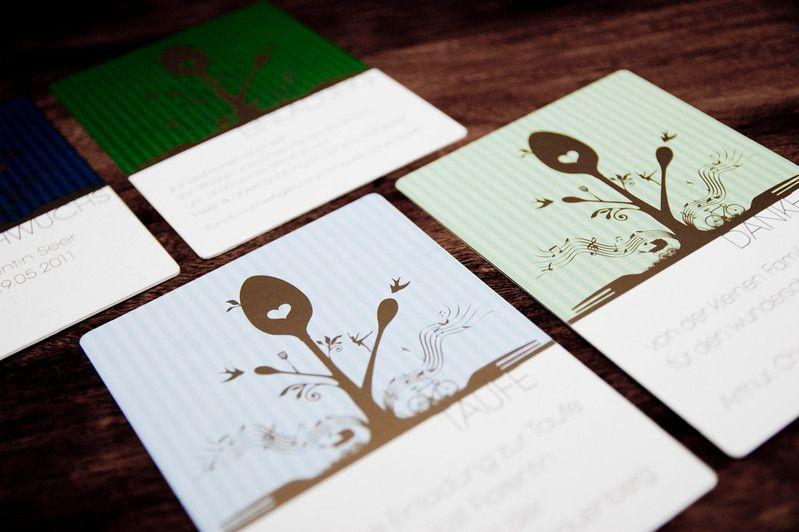 """"""" 4 auf einen Streich """", Frohe Botschaften, 2011, Print mit Gold auf Karton"""