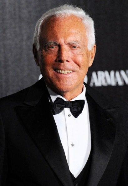 Giorgio Armani, Italian fashion designer known for his ... Giorgio Armani