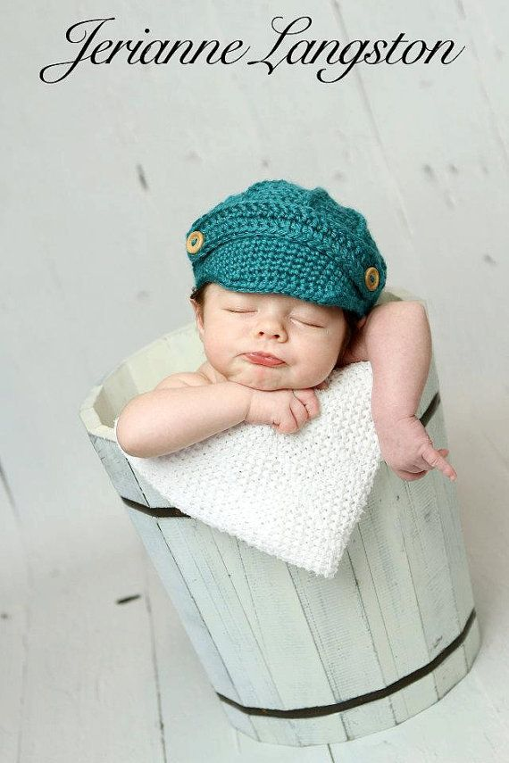 Crochet JoJo Newsboy Hat and Diaper Cover by BeckysThreadsofGrace ... 81dede8f409
