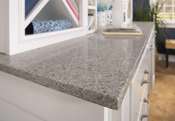 White Cabinets With Cosentino Eco Quartz Countertops In Riverbed Home Countertops Quartz Countertops