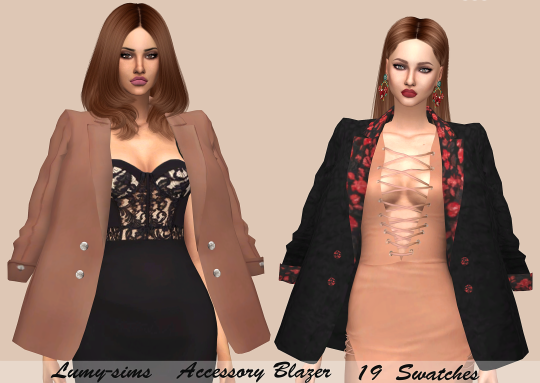 Sims 4 CC's - The Best: Accessory Blazer by Lumy Sims
