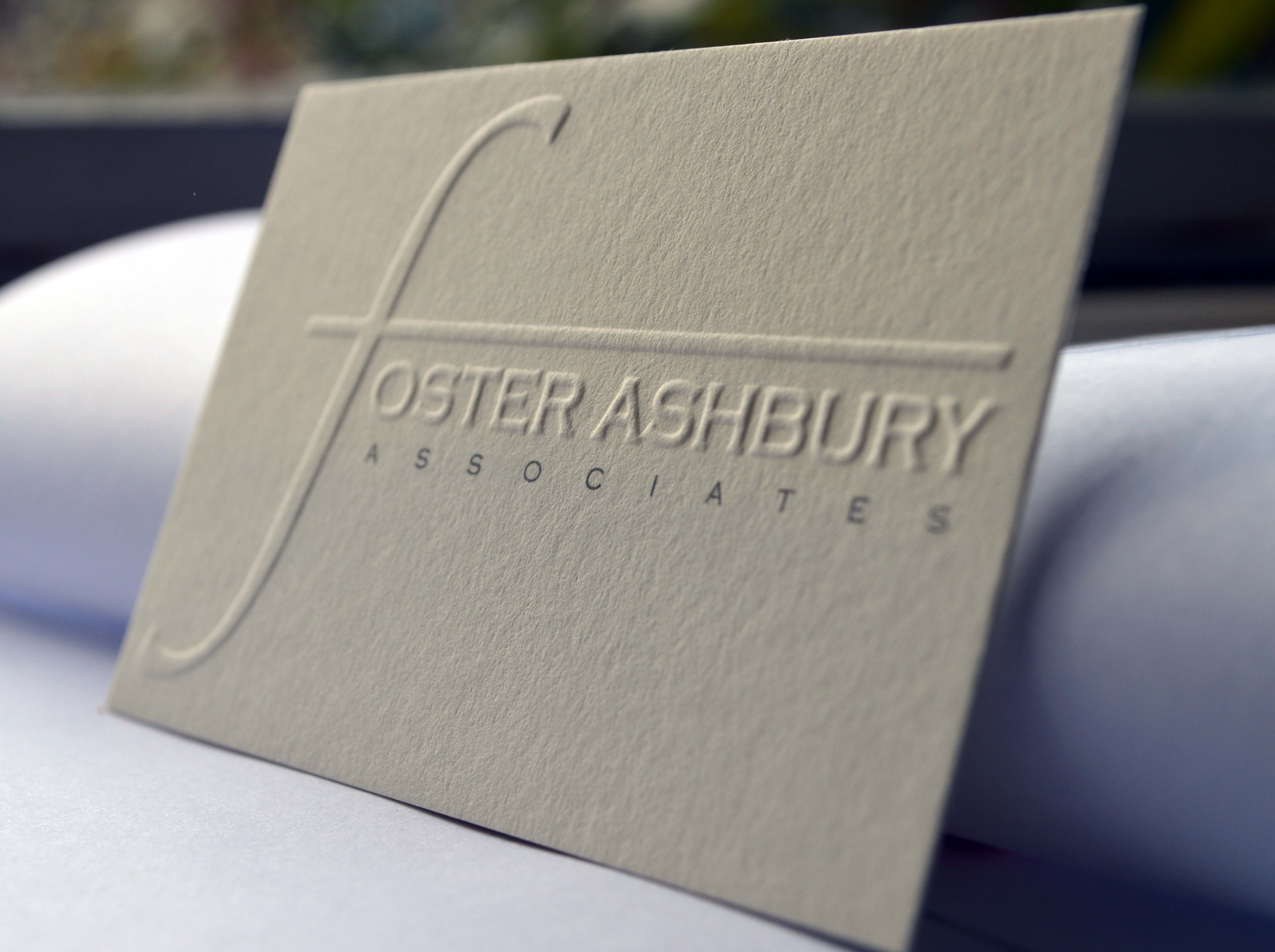 Blind Embossed And Printed Business Card Available From The Print Warehouse Embossed Business Cards Debossed Business Card Letterpress Business Cards