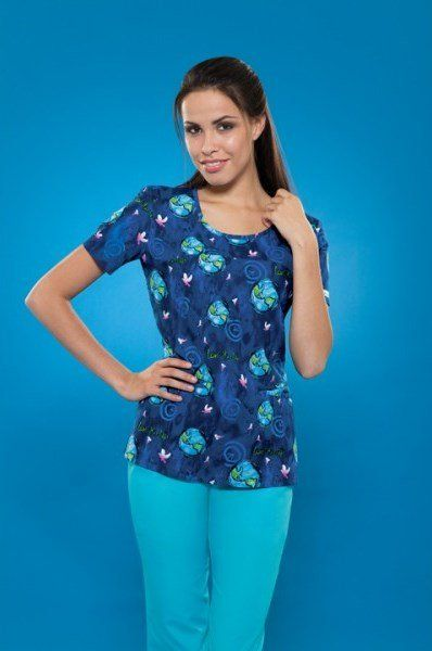 4f560d055ad Moonlit World cute medical scrub uniform top for nurses and other hospital  workers, from Scrubs HQ