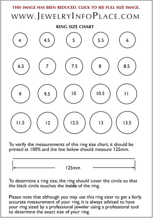 Printable ring sizer find your size  international chart jewelry pinterest and crafty also rh