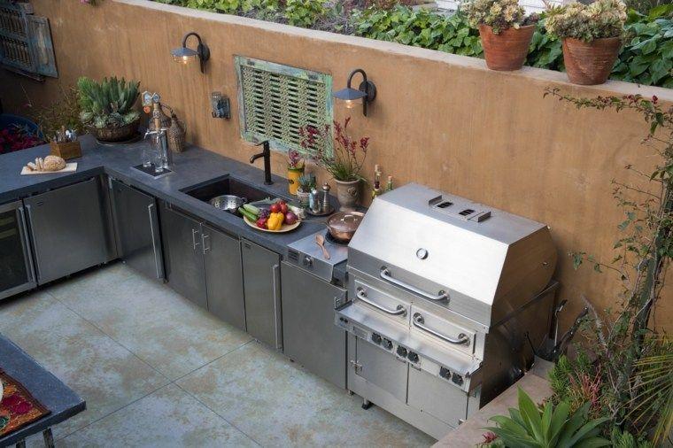 Diseno De Modernas Cocinas Exteriores Perfectas Para Tu Jardin