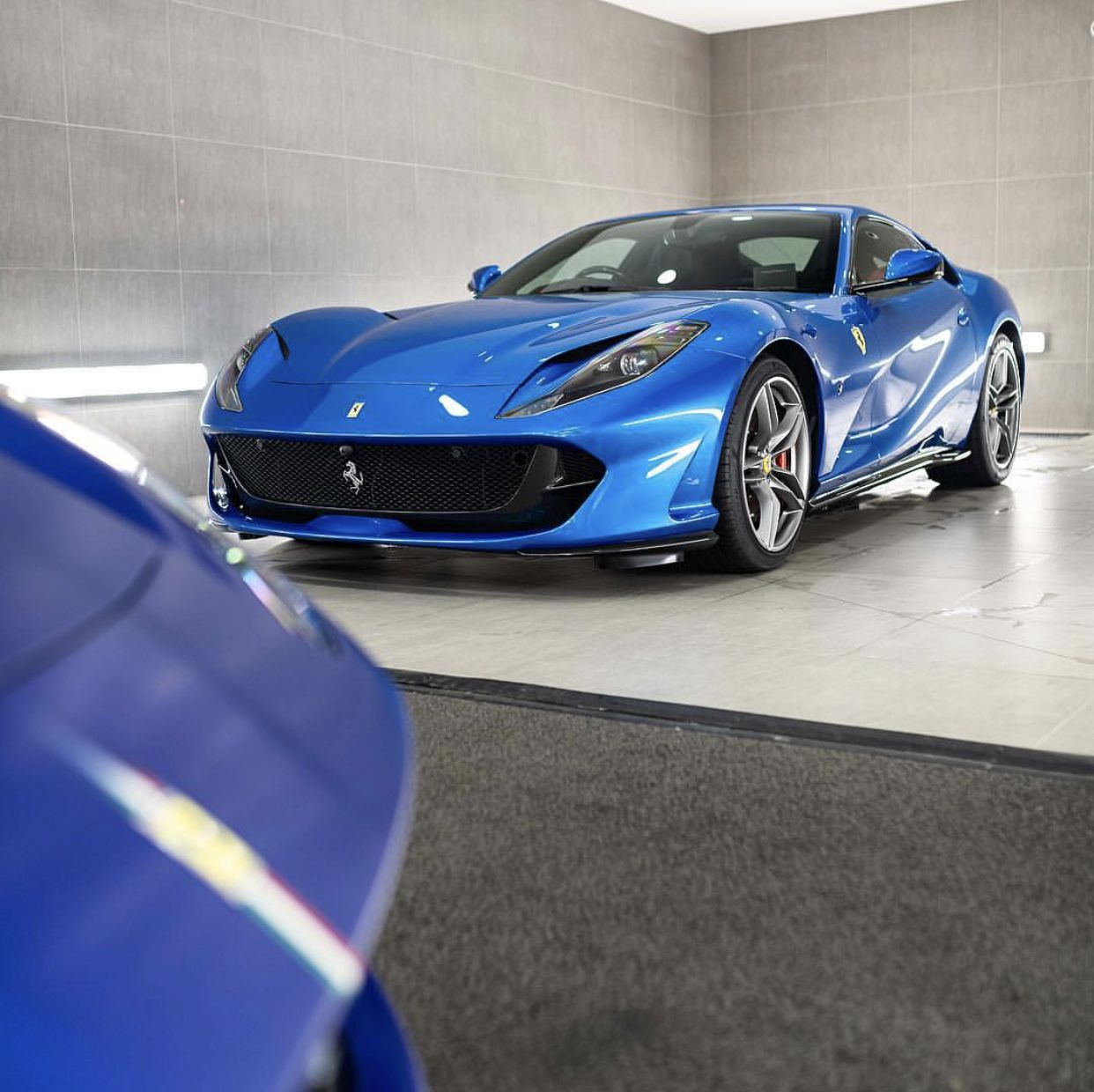 Ferrari 812 Superfast: Ferrari 812 Superfast Painted In Blu Corsa Photo Taken By