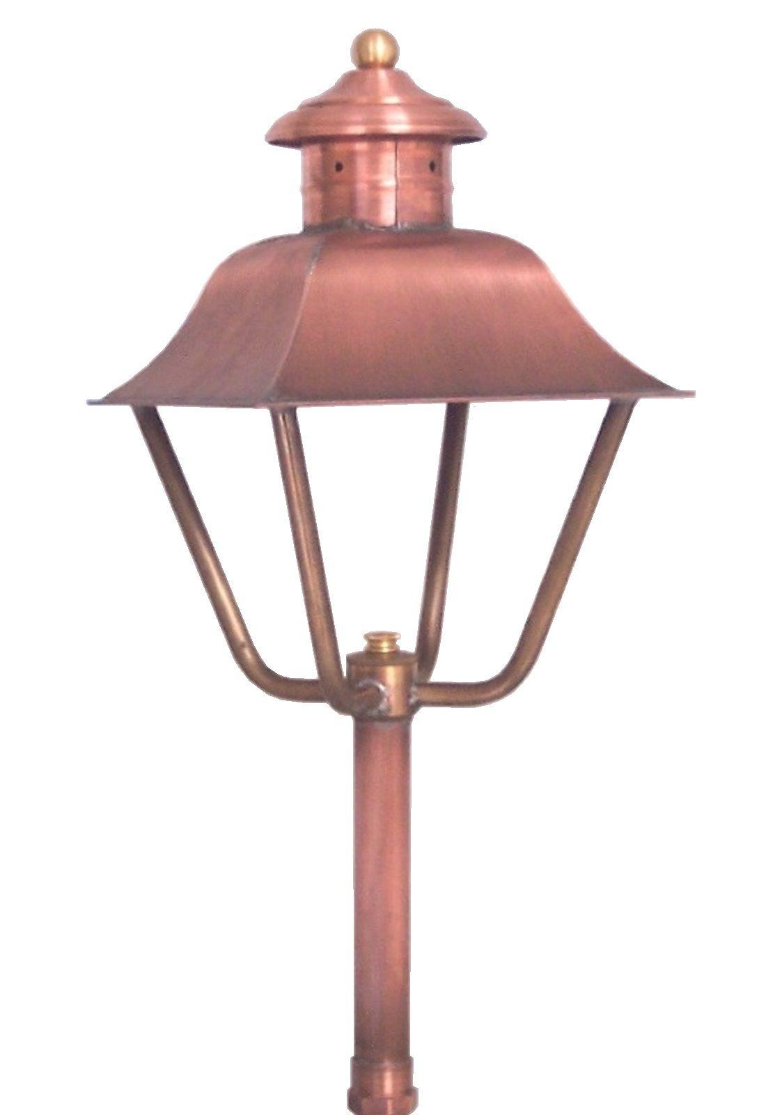 Brass Traditions Lighting 1950 Garden Light In Antique Copper Brasstraditions Ctmade Handcrafted Solid Copper Lighting Farmhouse Lighting Outdoor Lighting