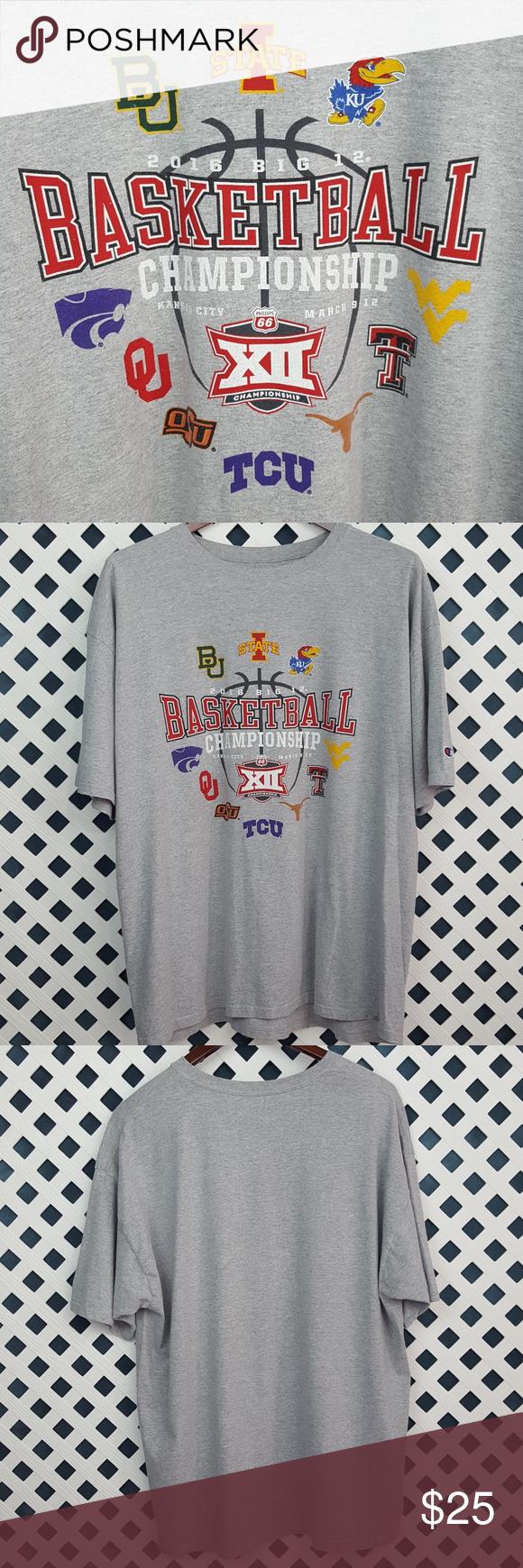 2016 BIG 12 BASKETBALL CHAMPIONSHIP TShirt Kansas