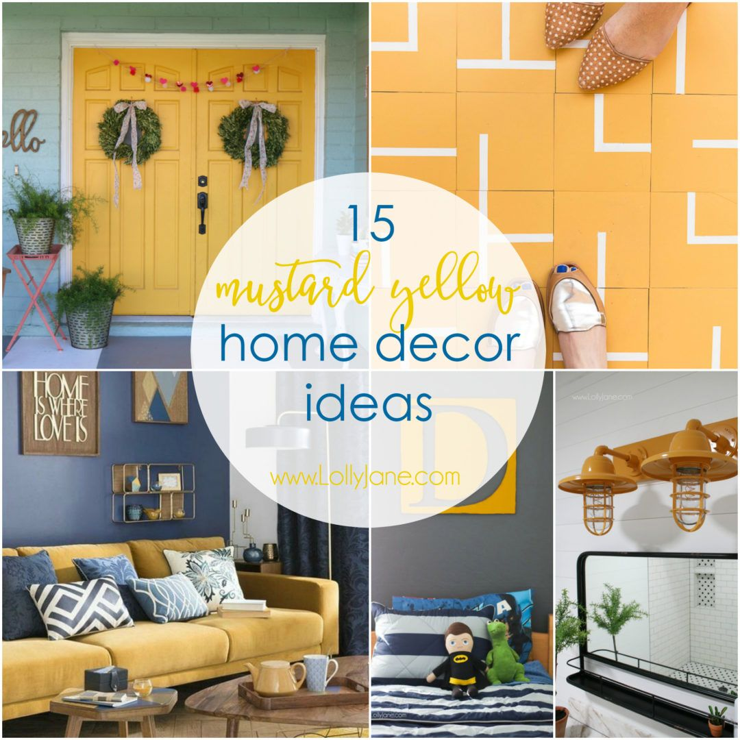 15 Mustard Yellow Home Decor Ideas Yellow Home Decor Blue