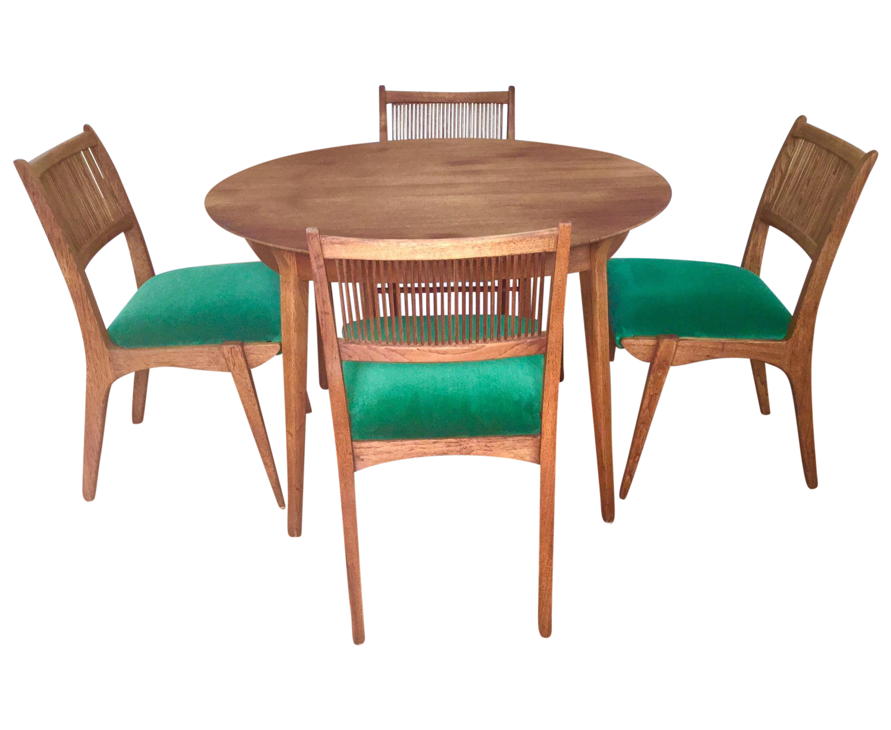 This Mid Century Modern dining set has been refinished with Danish