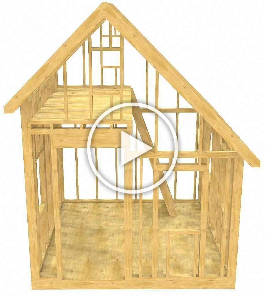 10x10 Walter Shed Plan Gable Garden Shed W Loft Pauls Sheds Buildingsheds Shed House Plans Shed Plan Building A Shed