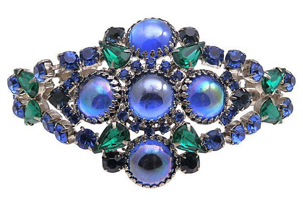 Royal Blue Rhinestone Bracelet on OneKingsLane.com