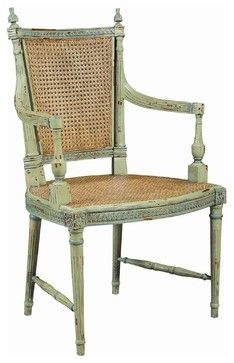 Le Grande Dining Chair, Green Arm - traditional - Dining Chairs - EuroLuxHome