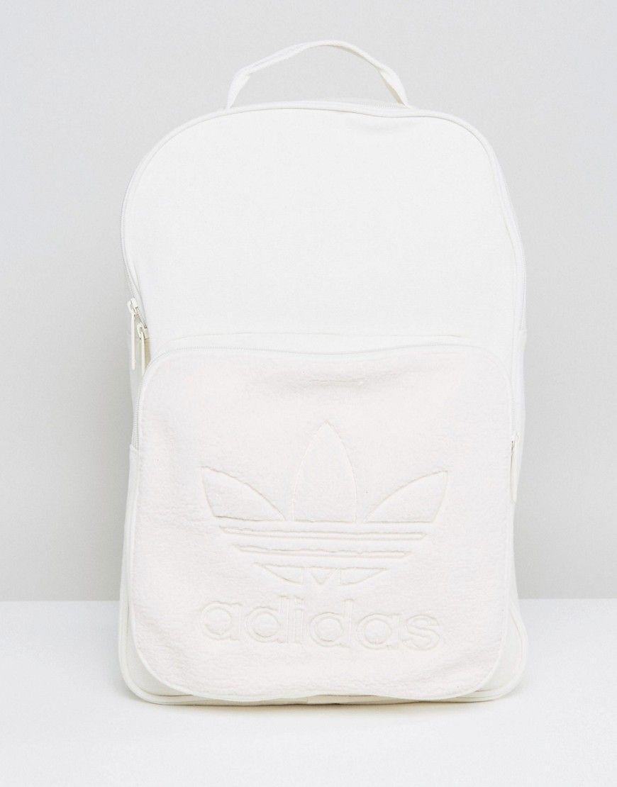 e2b42a14bdb9 ADIDAS ORIGINALS ORIGINALS CREAM FLEECE BACKPACK - WHITE.  adidasoriginals   bags