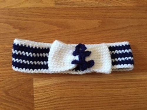 Ravelry: Nautical Anchor Headband pattern by Emma Lin Oliver ...