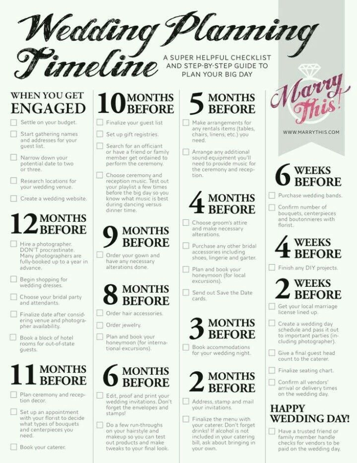 Sample Timeline  Future Wedding Ideas    Timeline