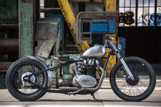 Salt flat racer inspired XS650  The bike is built with a
