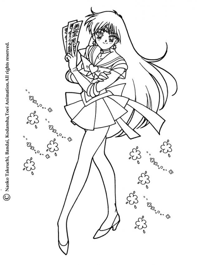 SAILOR MOON coloring pages - Sailor Mars | Coloring Pages ...