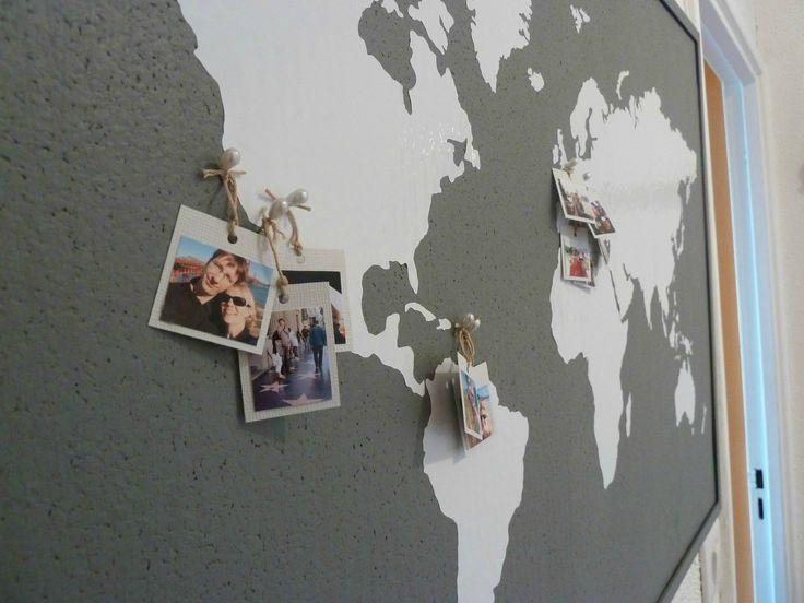 carte du monde à épingler Carte du monde et selfie des endroits visités à y épingler. (avec