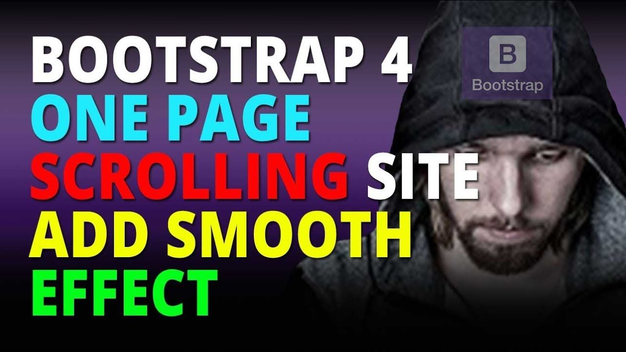 Bootstrap 4 One Page Scrolling Site Add Smooth Scroll Effect