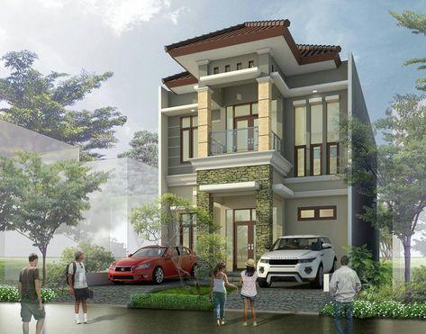 desain rumah minimalis type 45 2 lantai mewah modern