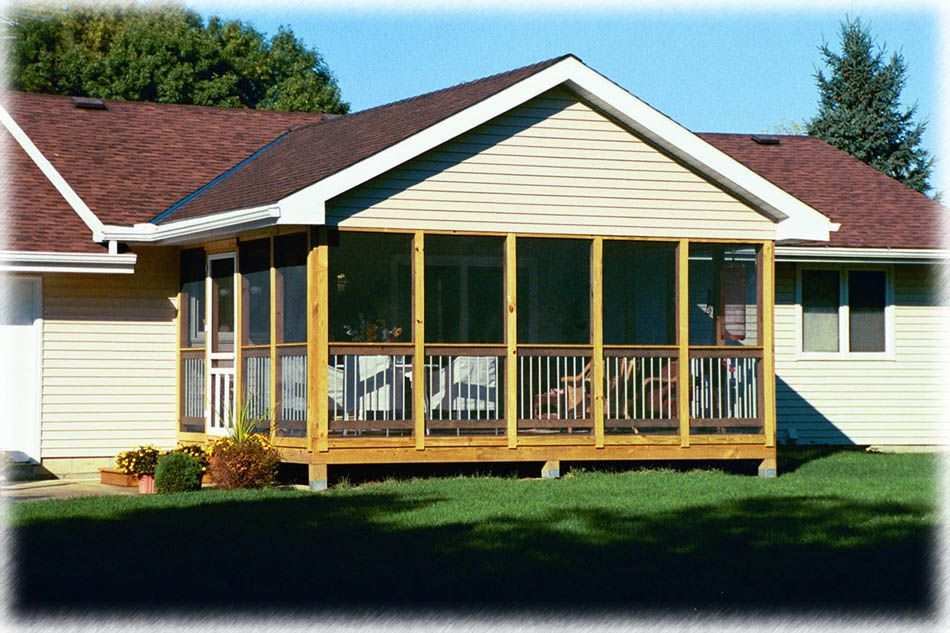 3 season porch cost screen porches stamped concrete for Porches prices