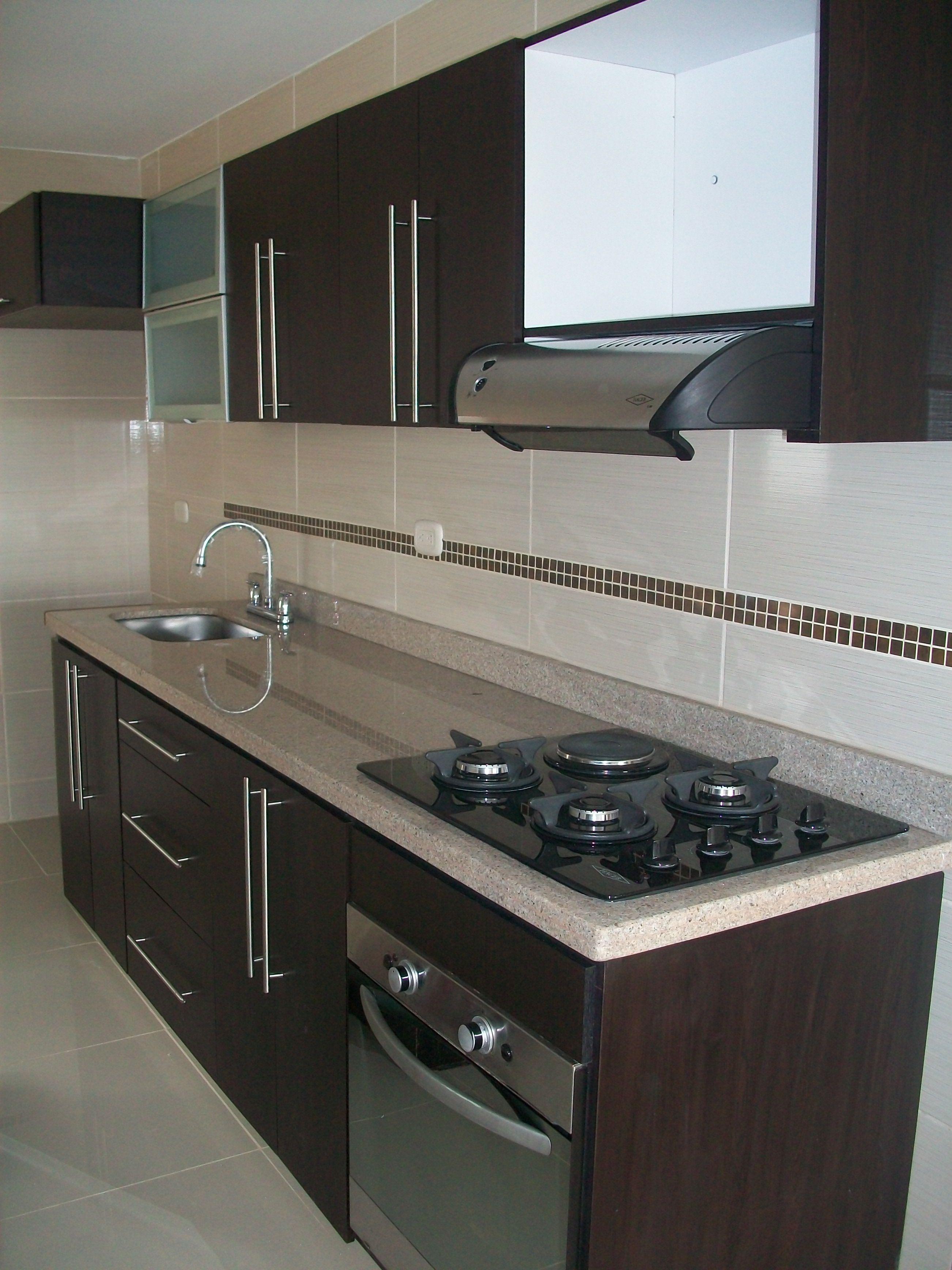 Fabricado por c g arte y decoraci n cocina integral con for Como hacer una cocina integral