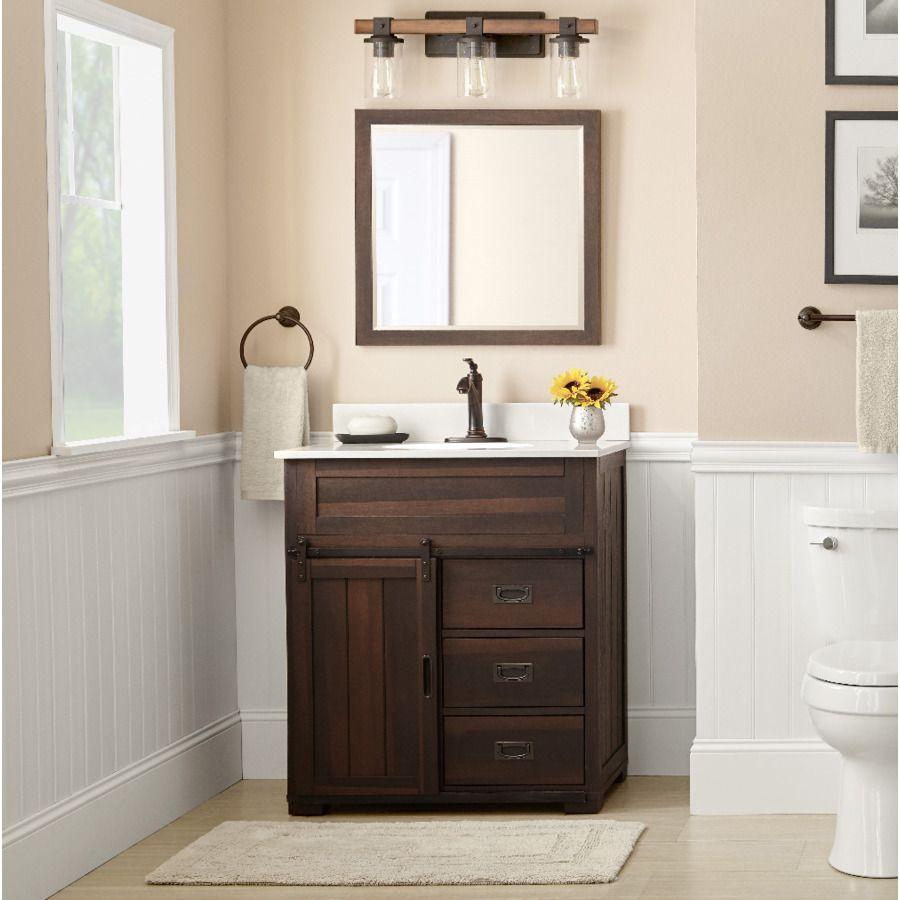 Shop Style Selections Multiple Colors 30 In Undermount Single Sink Bathroom Vanity With Rustic Bathroom Vanities Farmhouse Bathroom Vanity Bathroom Sink Vanity