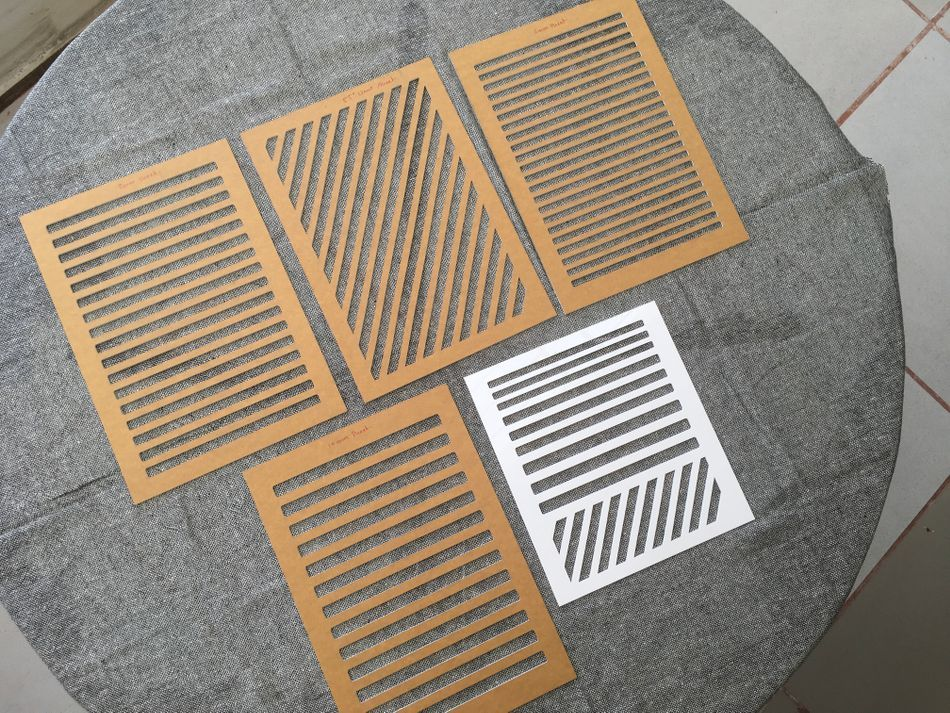 Description Acrylic Sheets 6 8 10 Mm And 55 Degrees Grids A4 Size 210 X 297mm 1 Pc Travel Stencil With 6 8 10 Mm And 55 Guideline Creatief