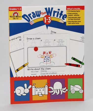 Take a look at this Draw...Then Write Grades 1 to 3  by Evan-Moor Educational Publishers on #zulily today!