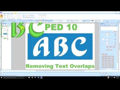 Pe Design 10 Lesson 21 Removing Text Overlaps Youtube Machine