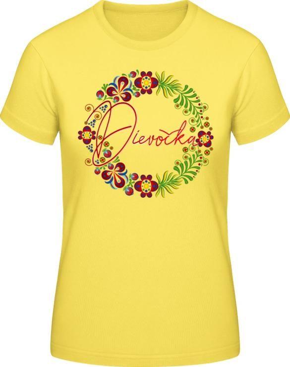 051d5e3bc Ľudový motív Dievočka - Dámske tričko B&C# | ĽUDOVÉ MOTÍVY - FOLKLOR ...