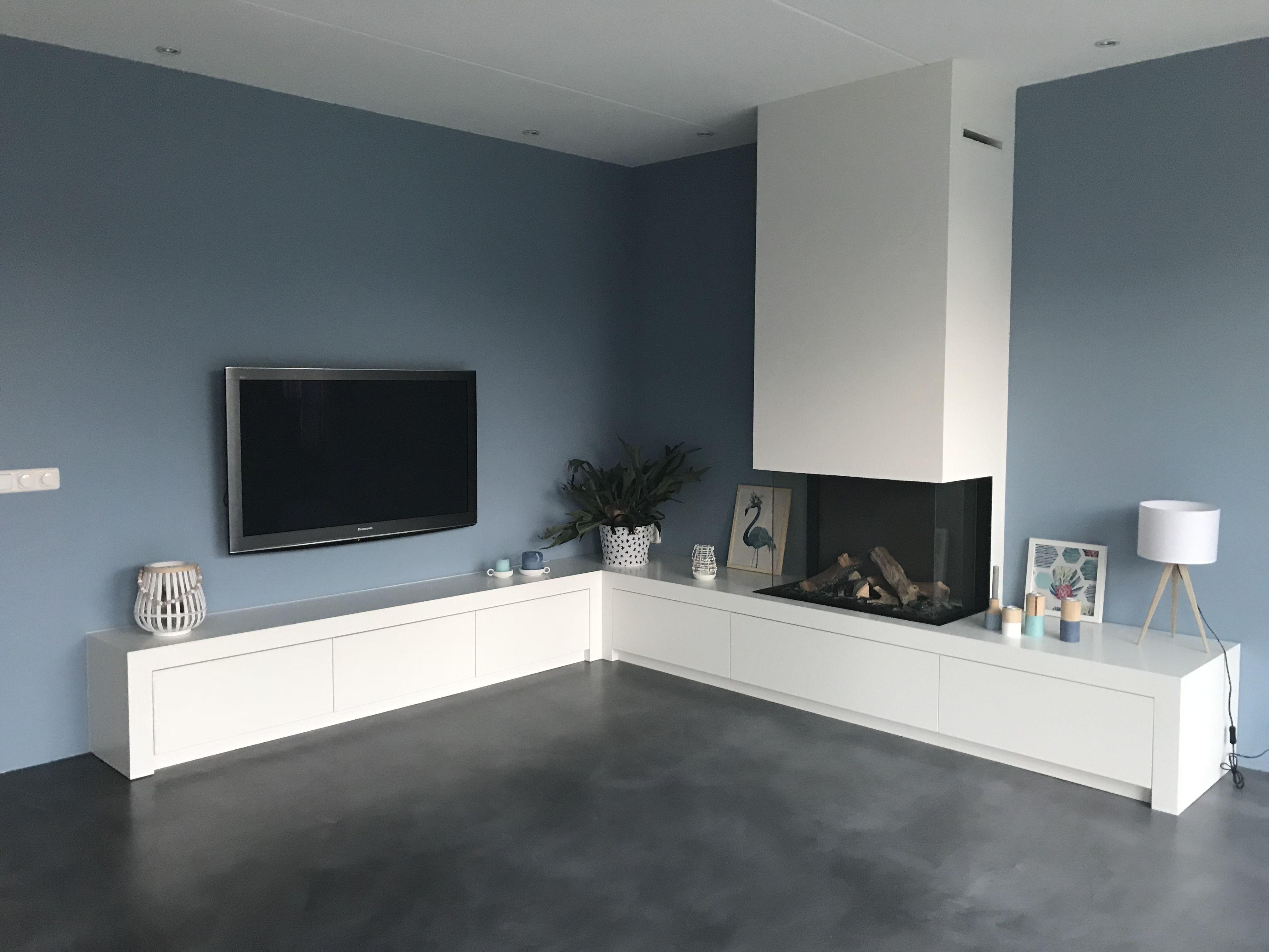 Open haard tv meubel moderne open haard gashaard woonkamer tv hoek