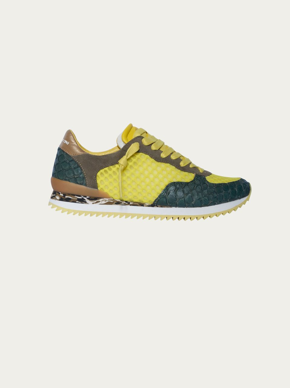 ZERO CENT CINQ - Sneaker Jaina in Gelb gemustert