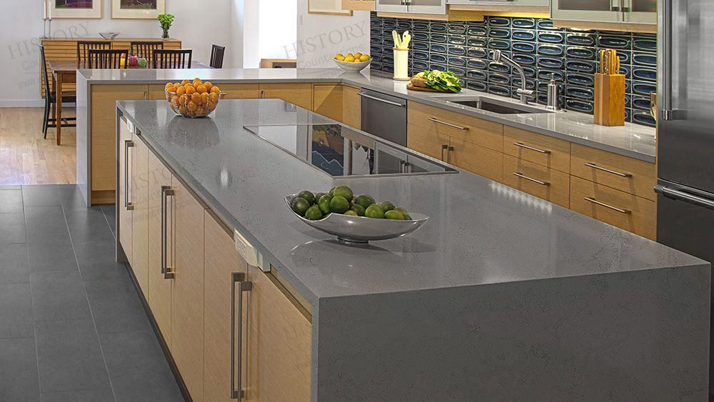 Best Ice Age Kitchen Quartz Countertops Grey