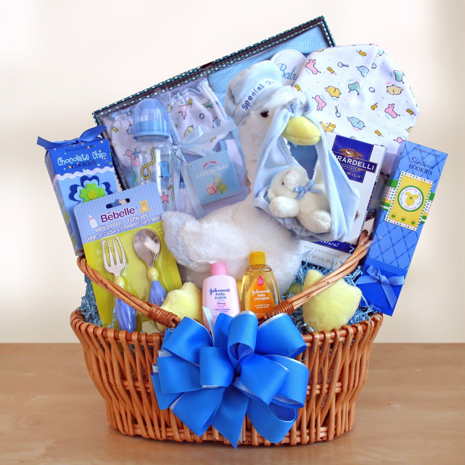 Special Stork Delivery Baby Boy Gift Basket | Baby Shower ...