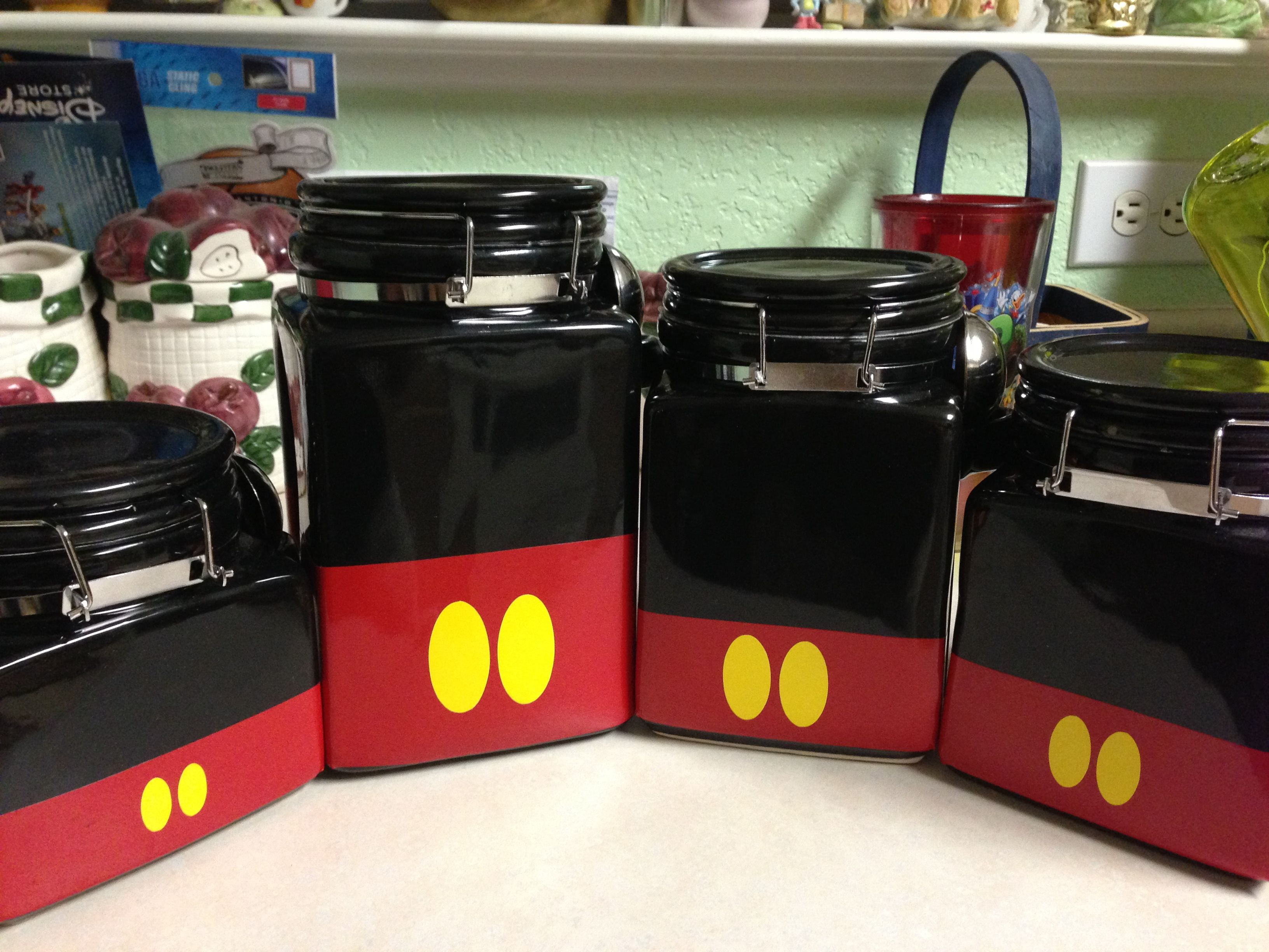 Mickey canisters! I like it but if I can\'t see what\'s in there the ...