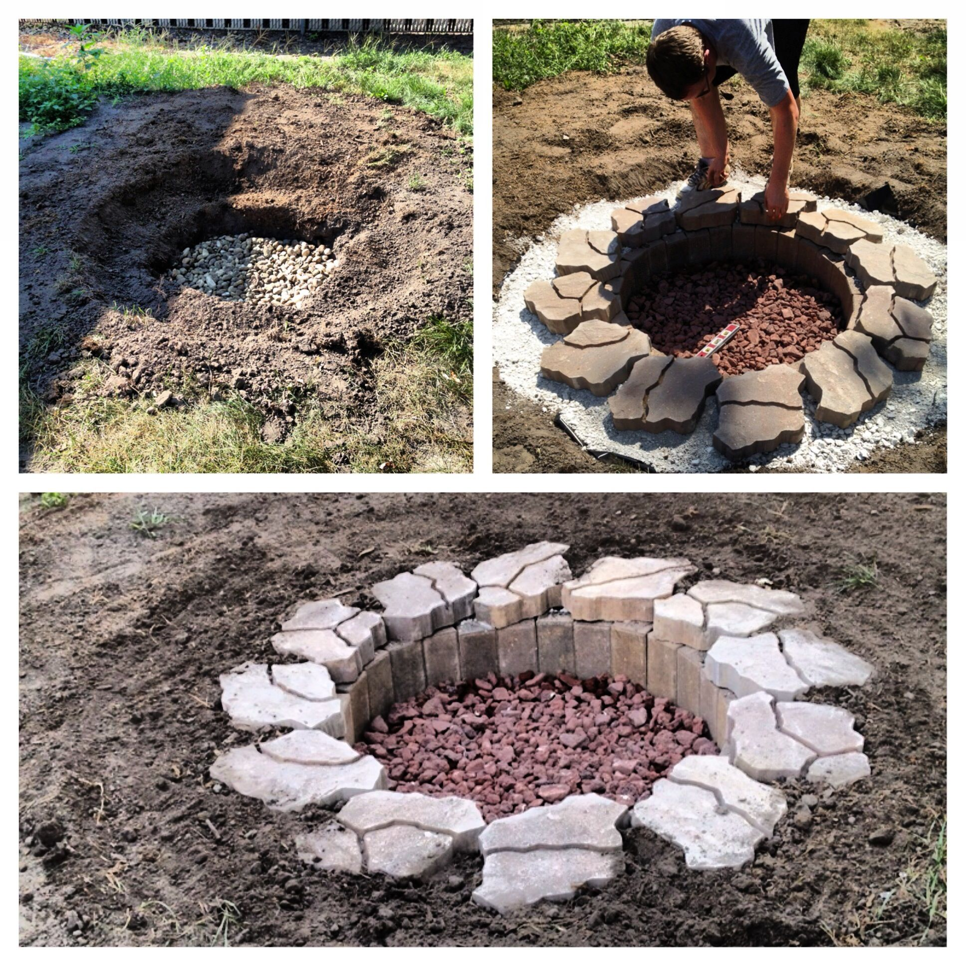 Diy in ground fire pit adventures in the backyard for Do it yourself fire pit designs