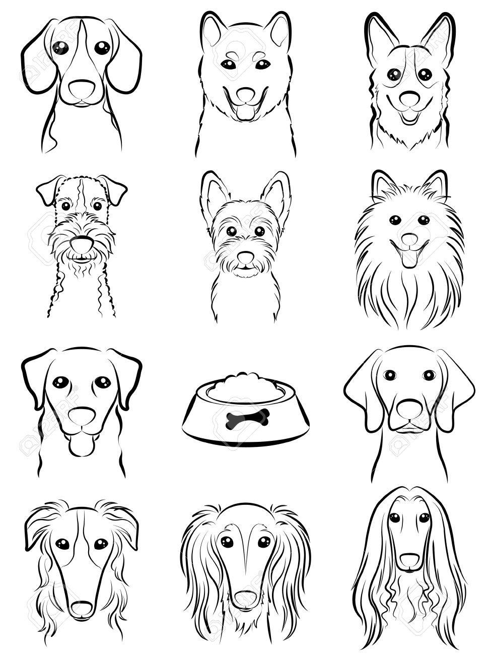 Dog Line Drawing Aff Dog Line Drawing Dog Line Drawing