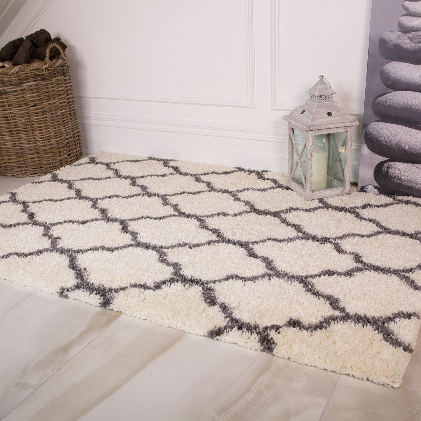 Imperial Shaggy Wool Rugs in Fossil buy online from the