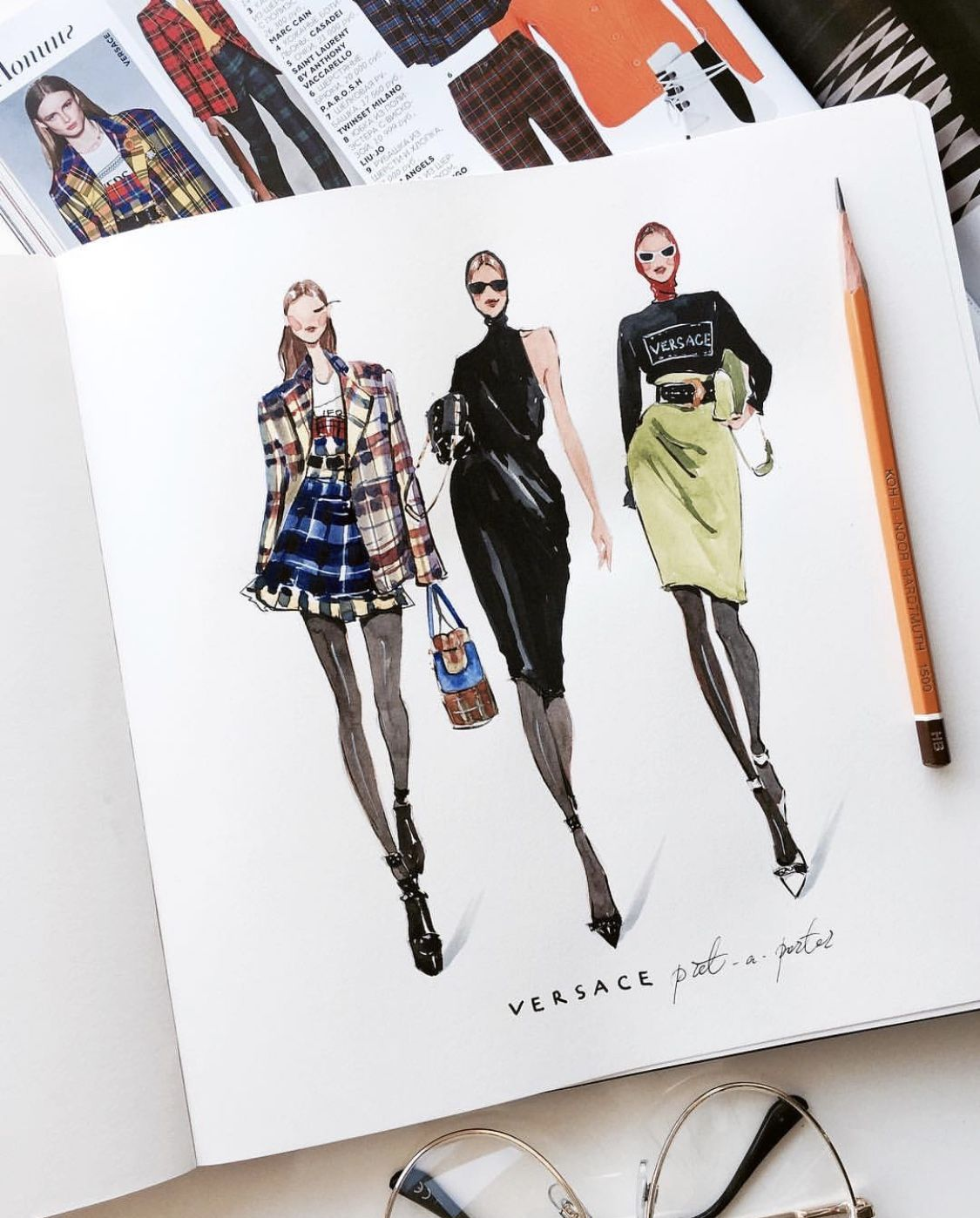 Marina Sidneva | Fashion design sketchbook, Fashion illustration sketches,  Fashion design portfolio