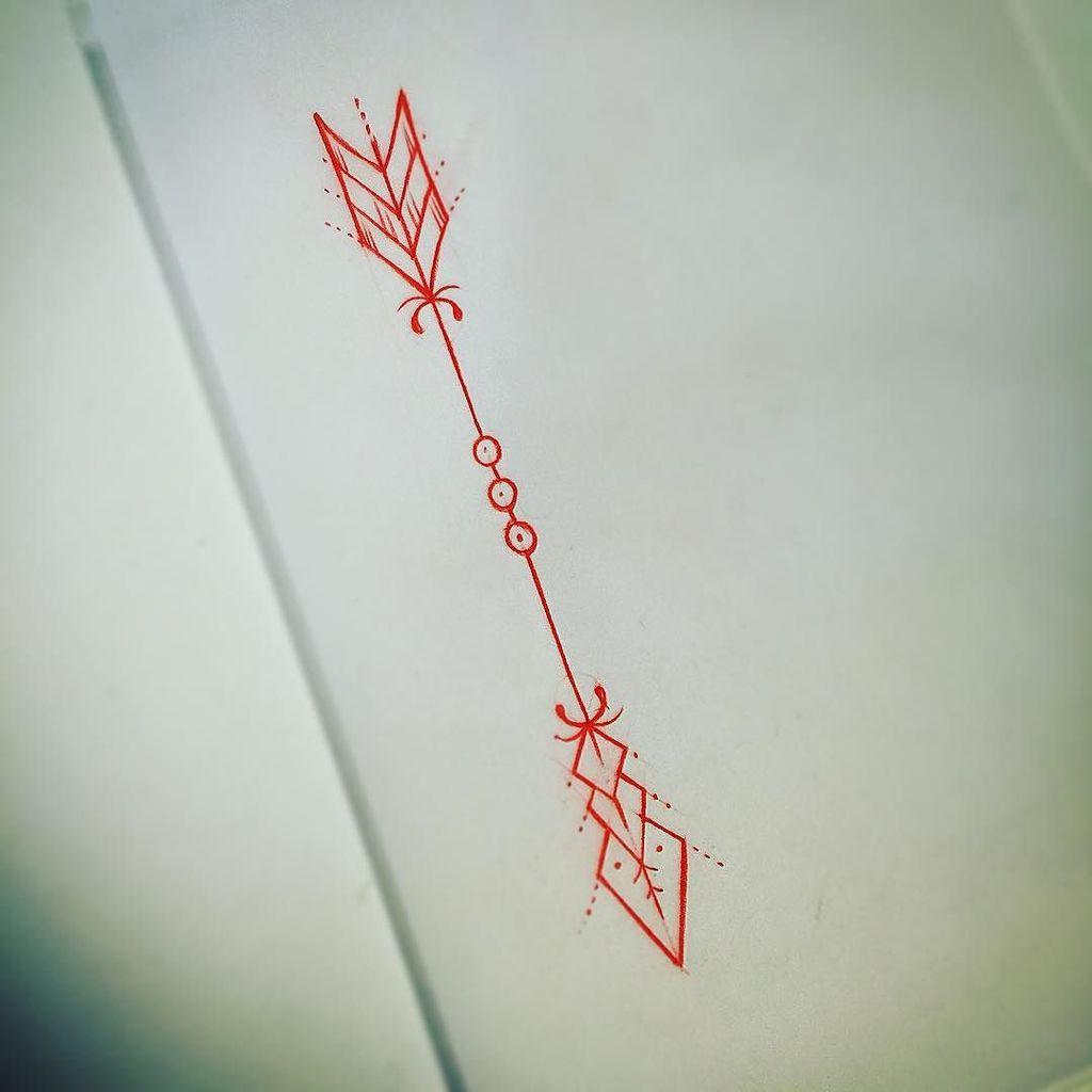 Cool little tattoo ideas red color arrow tattoo design  tattoo ideas  pinterest  tattoo