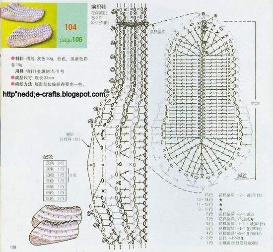 Crochet Pattern Sole Diagram Electrical Work Wiring Diagram