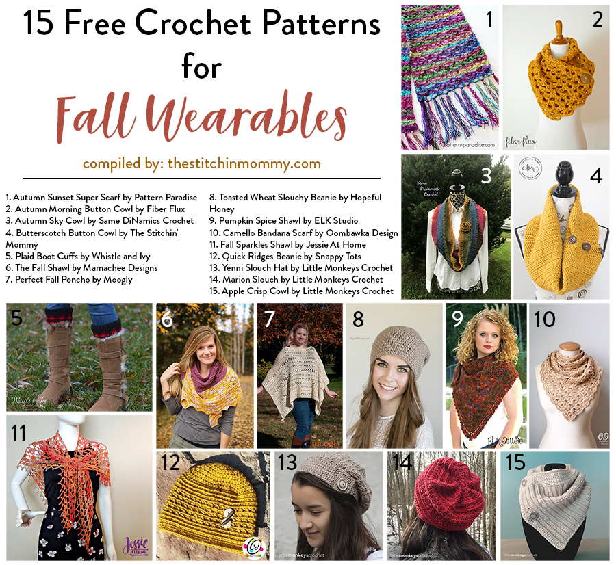 15 Free Crochet Patterns for Fall Wearables | Crochet | Pinterest ...