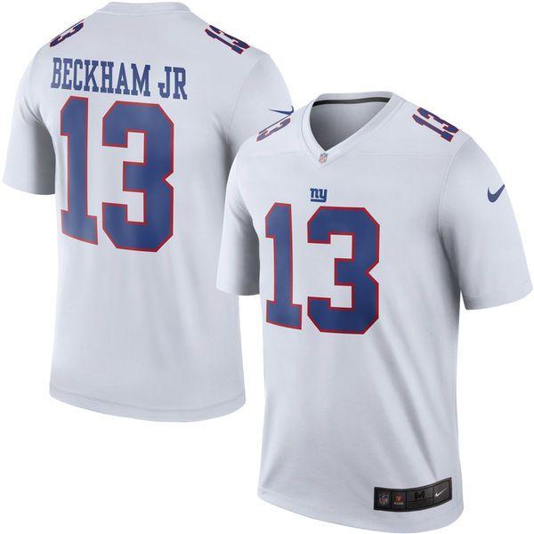 new arrival 1966e f0e1f Men's New York Giants Odell Beckham Jr Nike White Color Rush ...
