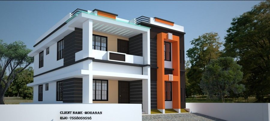 1292 Sq Ft Low Cost Simple Home Design Free House Plans