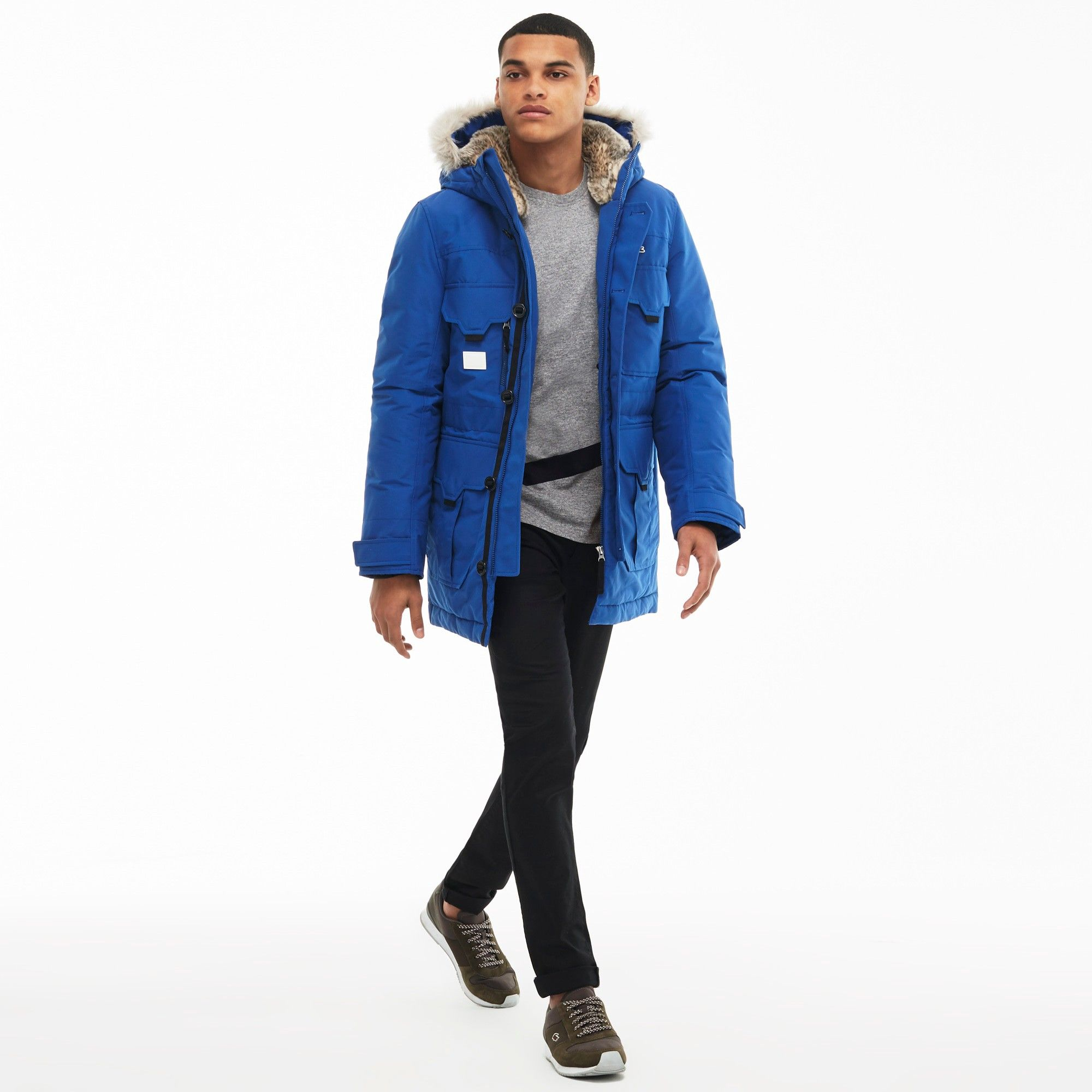 LACOSTE Unisex Lacoste LIVE Hooded Quilted Parka - STEEL BLUESTEEL BLUE. # lacoste #cloth